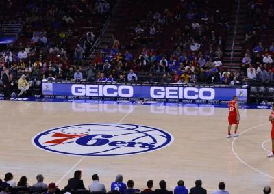 Philadelphia 76ers GEICO NBA Sports Sponsorship